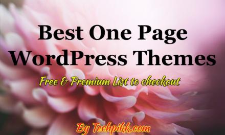 10 Best One Page WordPress Themes: Free & Premium List 2020