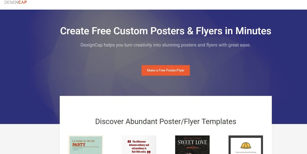 Designcap Review Free Online Poster Maker To Design Posters
