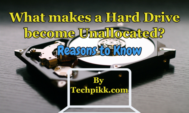 What makes a hard drive/disk become unallocated? Reasons